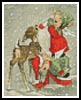 Mini Angels Feeding a Reindeer - Cross Stitch Chart