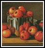 Mini Apples in a Tin - Cross Stitch Chart