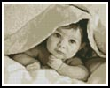 Mini Baby Face (Sepia) - Cross Stitch Chart