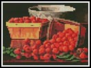 Mini Basket of Raspberries - Cross Stitch Chart