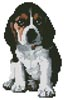 Mini Basset Hound Puppy - Cross Stitch Chart