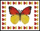 Mini Butterfly Sampler 1 - Cross Stitch Chart