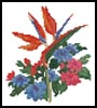 Mini Bird of Paradise Bouquet - Cross Stitch Chart