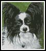 Mini Black and White Papillon - Cross Stitch Chart