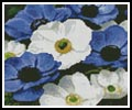 Mini Blue and White Flowers - Cross Stitch Chart