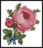 Mini Blue Ribbon Rose - Cross Stitch Chart