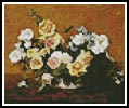 Mini Bouquet of Roses and other flowers - Cross Stitch Chart