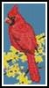 Mini Cardinal - Cross Stitch Chart