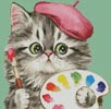 Mini Cat 85 - Cross Stitch Chart