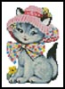 Mini Cat in a Hat - Cross Stitch Chart