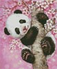 Mini Cherry Blossom Panda - Cross Stitch Chart