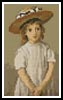 Mini Child in a Straw Hat - Cross Stitch Chart