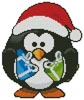 Mini Christmas Penguin - Cross Stitch Chart