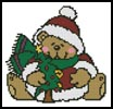 Mini Christmas Teddy - Cross Stitch Chart