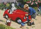 Mini Cleaning the Car - Cross Stitch Chart