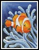 Mini Clownfish 2 - Cross Stitch Chart