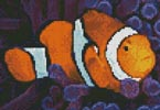 Mini Clownfish in Anemone - Cross Stitch Chart