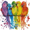 Mini Colourful Birds - Cross Stitch Chart