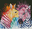 Mini Colourful Zebras - Cross Stitch Chart