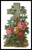Mini Cross of Flowers 2 - Cross Stitch Chart