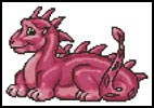 Mini Cute Dragon (Pink) - Cross Stitch Chart