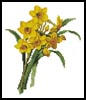 Mini Daffodils 2 - Cross Stitch Chart