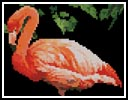 Mini Flamingo - Cross Stitch Chart