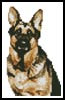 Mini German Shepherd - Cross Stitch Chart