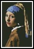 Mini Girl with a Pearl Earring - Cross Stitch Chart
