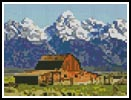Mini Grand Tetons Barn - Cross Stitch Chart