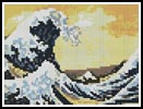 Mini Great Wave - Cross Stitch Chart