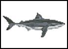 Mini Great White Shark - Cross Stitch Chart