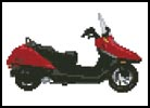Mini Honda Helix Scooter - Cross Stitch Chart