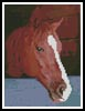 Mini Horse Head - Cross Stitch Chart