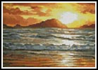 Mini Island Sunset - Cross Stitch Chart