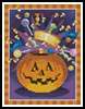 Mini Jack O' Lantern - Cross Stitch Chart