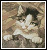 Mini Kitten in a Basket - Cross Stitch Chart