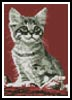 Mini Kitten in Red - Cross Stitch Chart