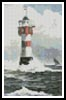 Mini Lighthouse Painting - Cross Stitch Chart