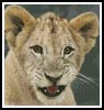Mini Lion Cub 3 - Cross Stitch Chart