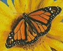 Mini Monarch Sunflower - Cross Stitch Chart