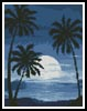 Mini Moonlight with Palm Trees - Cross Stitch Chart