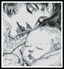 Mini Mother Holding Baby - Cross Stitch Chart