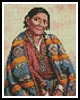 Mini Navajo Indian Woman - Cross Stitch Chart