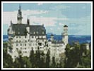 Mini Neuschwanstein Castle in Germany - Cross Stitch Chart