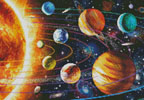 Mini New Solar System - Cross Stitch Chart
