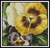 Mini Pansies 2 - Cross Stitch Chart