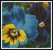 Mini Pansies 3 - Cross Stitch Chart