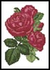 Mini Pink Roses 4 - Cross Stitch Chart