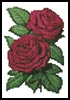 Mini Pink Roses 5 - Cross Stitch Chart